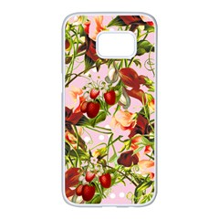 Fruit Blossom Pink Samsung Galaxy S7 Edge White Seamless Case