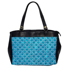 Scales2 White Marble & Turquoise Marble Office Handbags