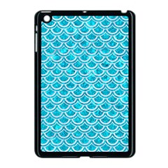 Scales2 White Marble & Turquoise Marble Apple Ipad Mini Case (black)
