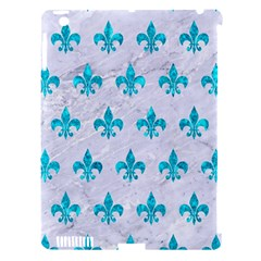 Royal1 White Marble & Turquoise Marble Apple Ipad 3/4 Hardshell Case (compatible With Smart Cover)