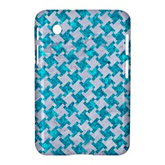 Houndstooth2 White Marble & Turquoise Marble Samsung Galaxy Tab 2 (7 ) P3100 Hardshell Case