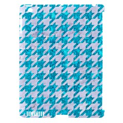 Houndstooth1 White Marble & Turquoise Marble Apple Ipad 3/4 Hardshell Case (compatible With Smart Cover)