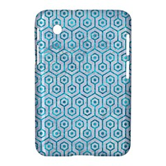 Hexagon1 White Marble & Turquoise Marble (r) Samsung Galaxy Tab 2 (7 ) P3100 Hardshell Case