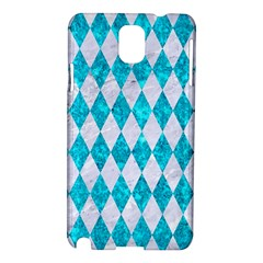 Diamond1 White Marble & Turquoise Marble Samsung Galaxy Note 3 N9005 Hardshell Case