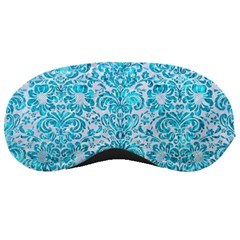 Damask2 White Marble & Turquoise Marble (r) Sleeping Masks