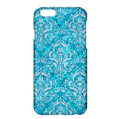 Damask1 White Marble & Turquoise Marble Apple Iphone 6 Plus/6s Plus Hardshell Case