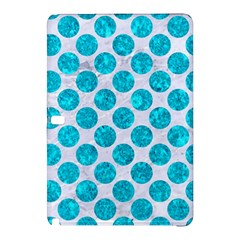 Circles2 White Marble & Turquoise Marble (r) Samsung Galaxy Tab Pro 12 2 Hardshell Case