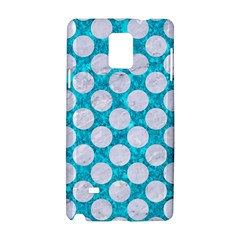 Circles2 White Marble & Turquoise Marble Samsung Galaxy Note 4 Hardshell Case