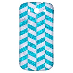 Chevron1 White Marble & Turquoise Marble Samsung Galaxy S3 S Iii Classic Hardshell Back Case