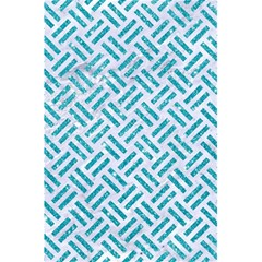 Woven2 White Marble & Turquoise Glitter (r) 5 5  X 8 5  Notebooks