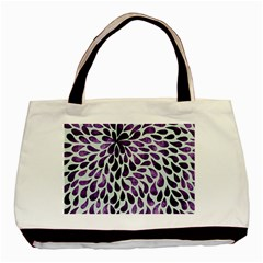 Purple Abstract Swirl Drops Basic Tote Bag