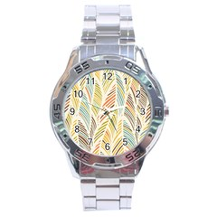 Decorative  Seamless Pattern Stainless Steel Analogue Watch
