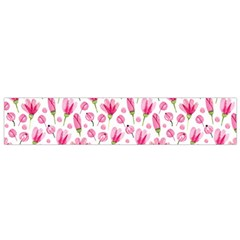 Watercolor Spring Flowers Pattern Small Flano Scarf