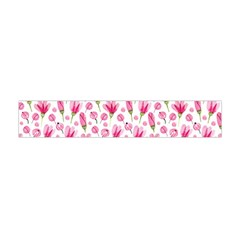 Watercolor Spring Flowers Pattern Flano Scarf (mini)