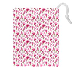 Watercolor Spring Flowers Pattern Drawstring Pouches (xxl)