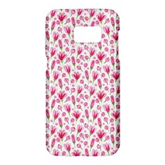 Watercolor Spring Flowers Pattern Samsung Galaxy S7 Hardshell Case