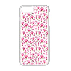 Watercolor Spring Flowers Pattern Apple Iphone 7 Plus Seamless Case (white)