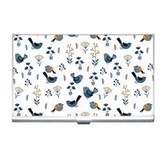 Spring Flowers And Birds Pattern Business Card Holders