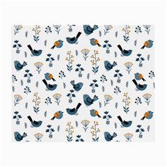 Spring Flowers And Birds Pattern Small Glasses Cloth (2 Side)