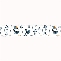 Spring Flowers And Birds Pattern Small Bar Mats