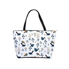 Spring Flowers And Birds Pattern Shoulder Handbags