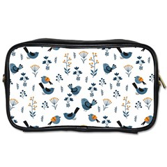 Spring Flowers And Birds Pattern Toiletries Bags