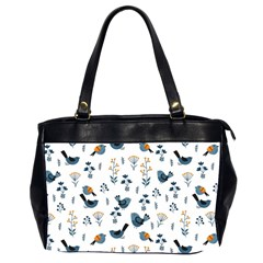 Spring Flowers And Birds Pattern Office Handbags (2 Sides)