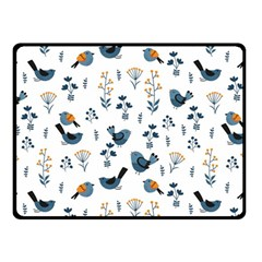 Spring Flowers And Birds Pattern Fleece Blanket (small)