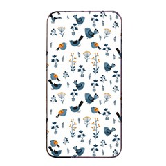 Spring Flowers And Birds Pattern Apple Iphone 4/4s Seamless Case (black)