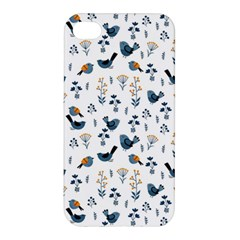 Spring Flowers And Birds Pattern Apple Iphone 4/4s Premium Hardshell Case