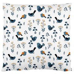 Spring Flowers And Birds Pattern Large Cushion Case (one Side)