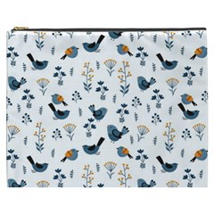 Spring Flowers And Birds Pattern Cosmetic Bag (xxxl)