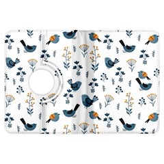 Spring Flowers And Birds Pattern Kindle Fire Hdx Flip 360 Case