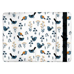 Spring Flowers And Birds Pattern Samsung Galaxy Tab Pro 12 2  Flip Case