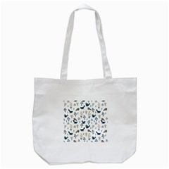 Spring Flowers And Birds Pattern Tote Bag (white)