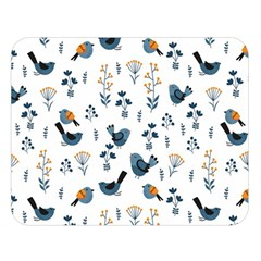 Spring Flowers And Birds Pattern Double Sided Flano Blanket (large)
