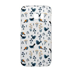 Spring Flowers And Birds Pattern Galaxy S6 Edge