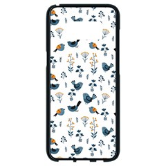 Spring Flowers And Birds Pattern Samsung Galaxy S8 Black Seamless Case