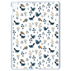 Spring Flowers And Birds Pattern Apple Ipad Pro 9 7   White Seamless Case