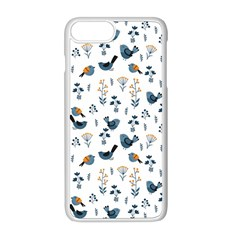 Spring Flowers And Birds Pattern Apple Iphone 8 Plus Seamless Case (white)