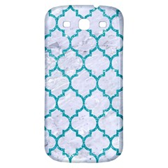 Tile1 White Marble & Turquoise Glitter (r) Samsung Galaxy S3 S Iii Classic Hardshell Back Case