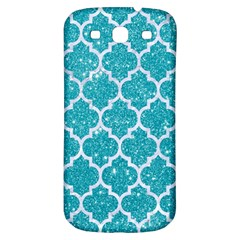 Tile1 White Marble & Turquoise Glitter Samsung Galaxy S3 S Iii Classic Hardshell Back Case