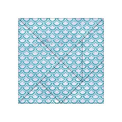 Scales2 White Marble & Turquoise Glitter (r) Acrylic Tangram Puzzle (4  X 4 )