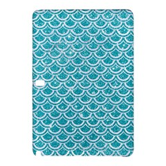 Scales2 White Marble & Turquoise Glitter Samsung Galaxy Tab Pro 12 2 Hardshell Case