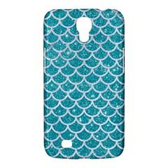 Scales1 White Marble & Turquoise Glitter Samsung Galaxy Mega 6 3  I9200 Hardshell Case