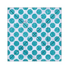 Circles2 White Marble & Turquoise Glitter (r) Acrylic Tangram Puzzle (6  X 6 )