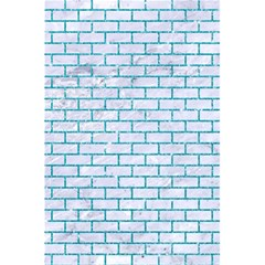 Brick1 White Marble & Turquoise Glitter (r) 5 5  X 8 5  Notebooks