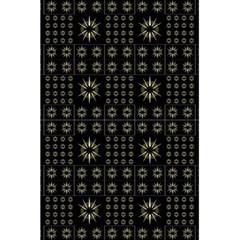Dark Ethnic Stars Motif Pattern 5 5  X 8 5  Notebooks