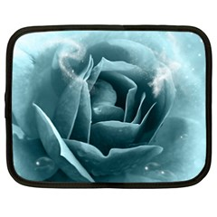 Beautiful Blue Roses With Water Drops Netbook Case (xxl)