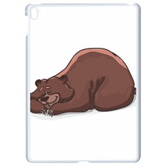 Cute Bear Sleeping Apple Ipad Pro 9 7   White Seamless Case